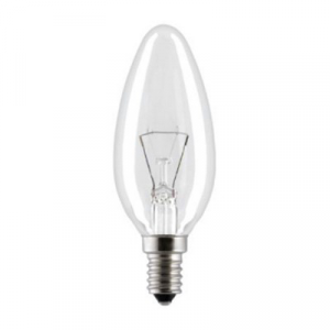 Лампа накаливания ДС40-1 (свеча) 40Вт Е14 (в кр.уп.) (ОАО БЭЛЗ)