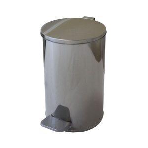 Урна педальная металлическая Титан хром