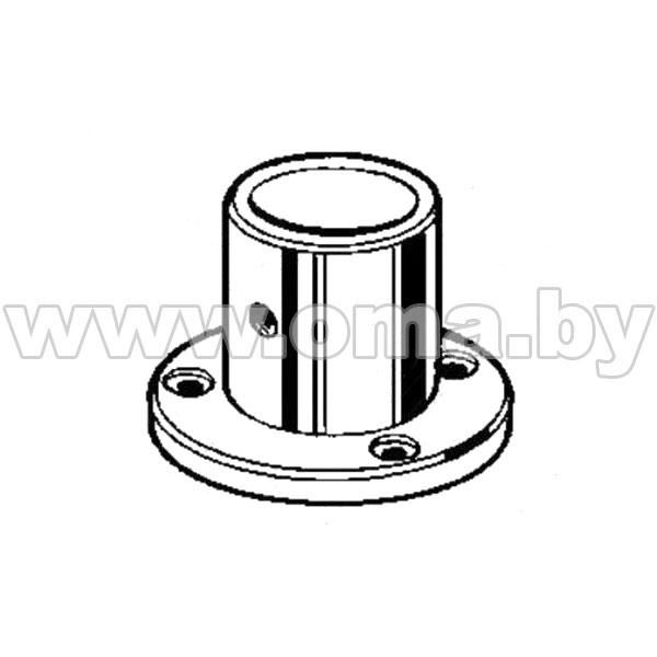 (510Е) Крепление (розетка) высокая трубы d25мм
