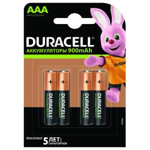 Аккумулятор Ni-MH (никель-металлгидридный) AAA 900mAh 4BP (уп-ка 4шт) DURACELL
