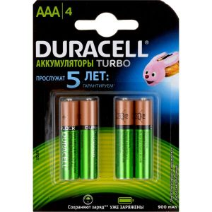 Аккумуляторы DURACELL AAA 900mAh 4 шт.