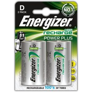 Аккумуляторы Energizer Rech Power Plus D 2500mAh 2 шт.