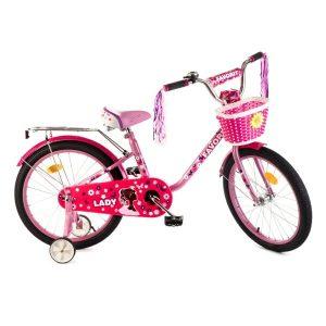 Детский велосипед Favorit Lady 20 (розовый/малиновый)