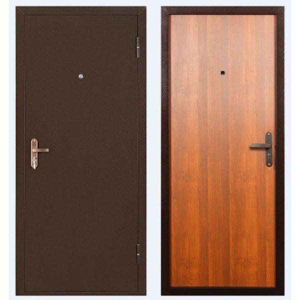 Дверьметаллическаяквартирная СПЕЦBMD итал.орех/антик.медь 2050*950R