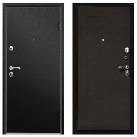ДверьметаллическаявходнаяФорте СИМПЛ черный муар 2066*880 L