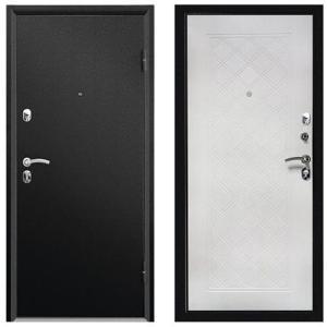 ДверьметаллическаявходнаяФорте СИМПЛ черный муар 2066*980 L