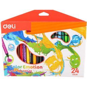 Фломастеры DELI Color Emotion (C10120) 24 цвета