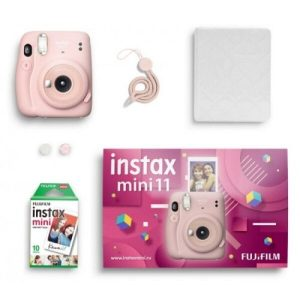 Фотоаппарат FUJIFILM Instax Mini 11 (розовый) Geometric Set