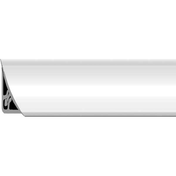 Галтель ПВХ Белая внутр. с мягким краем двухсост. 15х15х2700мм