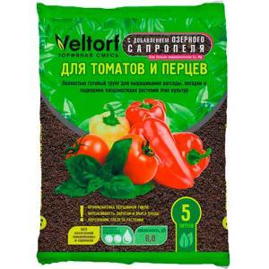 Грунт Велторф-Сапропель для томатов и перцев 5 л
