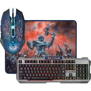 Игровой набор Defender Killing Storm MKP-013L (мышь+клавиатура+коврик)