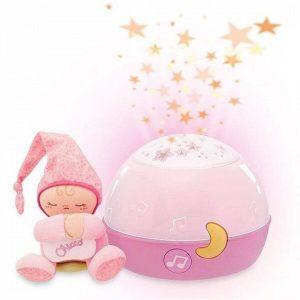 Игрушка Chicco Звездный ночник-проектор (розовый)