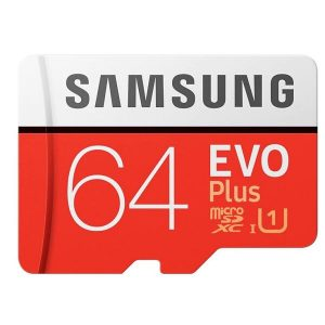 Карта памяти Samsung EVO Plus microSDXC 64GB (MB-MC64HA/RU)