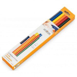 Клеевые стержни STEINEL 11 разноцветные (006815)