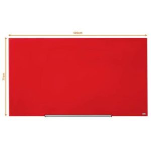 Магнитно-маркерная доска NOBO DIAMOND GLASS RED 1264x711 (1905185)