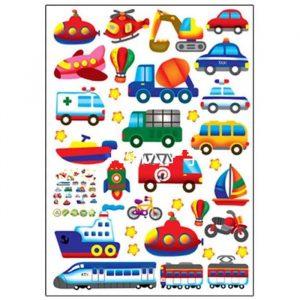 Наклейка Транспорт детский