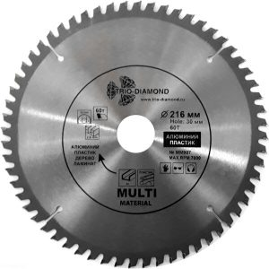 Пильный диск по мультиматериалам Trio-diamond ММ907 216*30*60Т