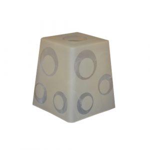 Плафон Пирамида (шары) E14 31-002-в30 алеб.мат. шмп./С NinaGlass