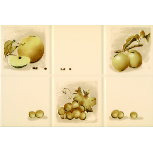 Плитка для кухни Beryoza Ceramica Руна / Runa декор ассорти бежевый 200 x 300
