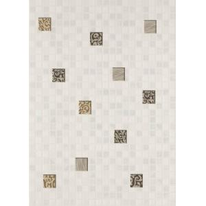 Плитка для ванной Beryoza Ceramica Квадро / Kvadro мозаика декор белый 250 x 350