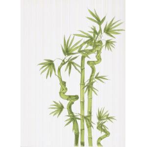 Плитка для ванной Beryoza Ceramica Ретро / Retro бамбук декор 1 салатный 250 x 350