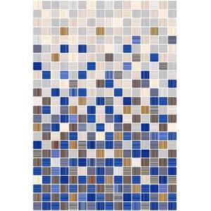 Плитка для ванной Керамин Гламур 2С микс голубой 400х275 мм
