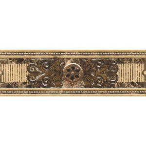 Плитка для ванной М-квадрат Империал / Imperial 1 бежевый бордюр 80x250