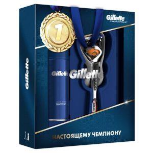 Подарочный набор Gillette Бритва Fusion ProGlide Flexball с 1 сменной кассетой + Гель для бритья Ultra Sensitive 75 мл (7702018508549)