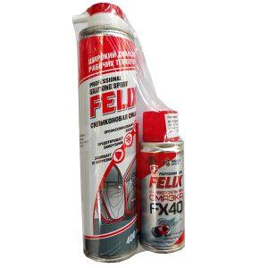 ПРОМО Смазка силиконовая Felix 400 мл (аэрозоль) + Многофункциональная смазка FX-40