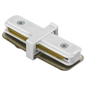 Соединитель трековый однофазный 502106 BARRA мал.прямой / белый Lightstar