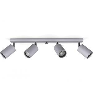 Светильник настенно-потолочный/спот Глейз 12509 НСБ серый (4х35 Вт
