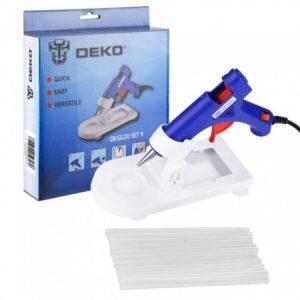 Термоклеевой пистолет Deko DKGG20 Set 4 (063-4968)