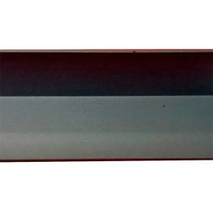 Уголок декоративный 017 ПВХ 15х15х2700 мм алюминий