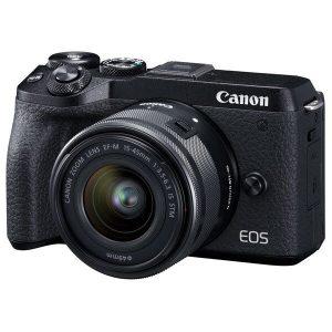 Беззеркальный фотоаппарат Canon EOS M6 Mark II M15-45 S + EVF EU26 (черный)