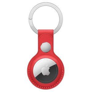 Брелок-подвеска для Apple AirTag Leather Key Ring (PRODUCT)RED (MK103ZM/A)