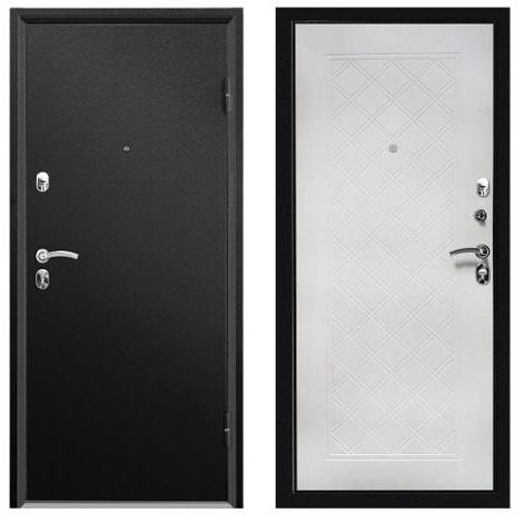 ДверьметаллическаявходнаяФорте СИМПЛ черный муар 2066*980 R