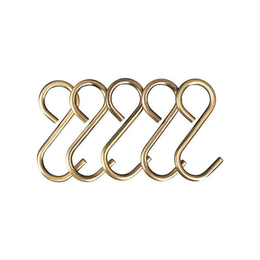 Набор съемных крючков Крокус на рейлинг бронза