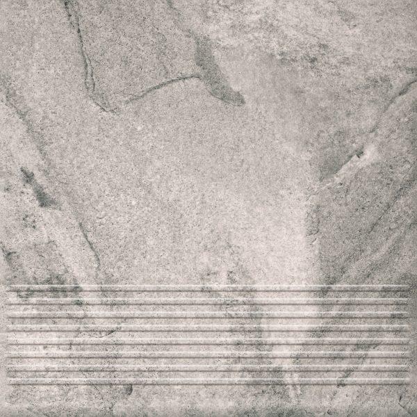 Плитка Mattone Pietra клинкер ступень графит 300х300