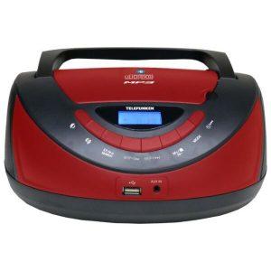 Портативная аудиосистема TELEFUNKEN TF-CSRP3497B (красный/черный)
